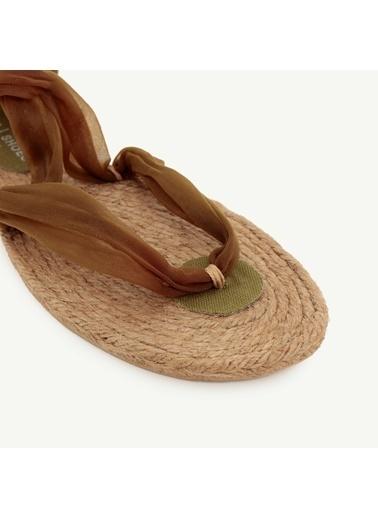 Yargıcı Kadın Jut Tabanlı Kumaş Sandalet 0YKAY4009X Haki